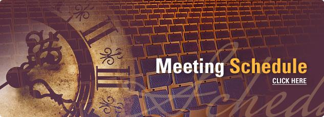 Meeting Schedule. Click here.