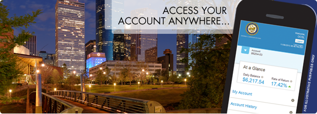 Access your account anywhere.