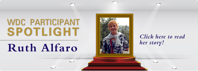 WDC_Participant SPOTLIGHT - Ruth Alfaro. Click here to read her success story!