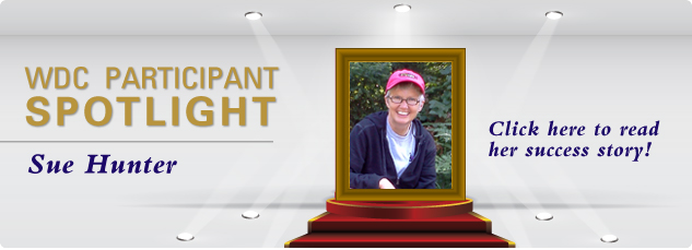 WDC_Participant SPOTLIGHT - Sue Hunter. Click here to read his success story!
