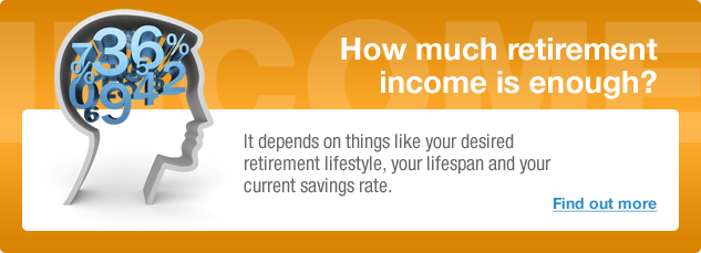 How Much Retirement Income is Enough? It depends on  things like your desired retirement lifestyle, your lifespan and your current savings rate. Find out more.
