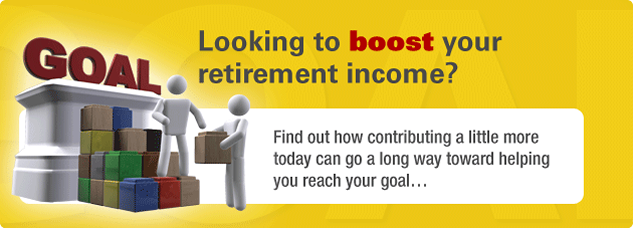 Looking to boost your retirement income? Find out how contributing a little more today can go a long way toward helping you reach your goal.
